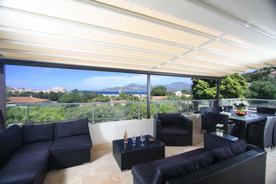 First floor terrace with stunning bay and citadel views