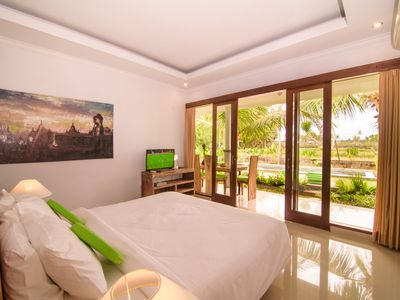 Photo for Two Bedrooms with Private pool facing to Wide Rice Padies view