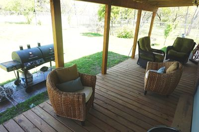 large deck area to enjoy a BBQ & relax