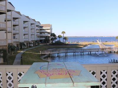 Photo for Cute, Beachy Decorated Condo - Steps to the Bay, a short walk to the Gulf of Mexico
