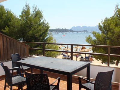 Photo for Pine Walk apartment with sea views, opposite the beach.  Air con and WIFI