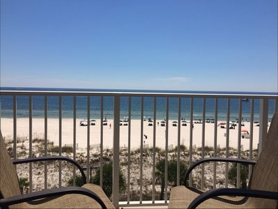 Photo for #403-Tons of space, oversized balcony overlooking pool w/direct beach view!