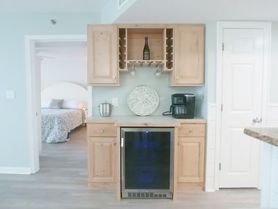 Photo for Crescent Shores Condo - New beverage fridge and bar!