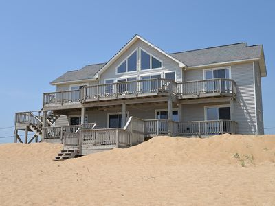 Photo for Oceanfront, right on the beach! 5 bedroom family cottage - 383