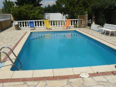 Photo for Large villa 120m² with swimming pool, near the sea (renovated 2015)