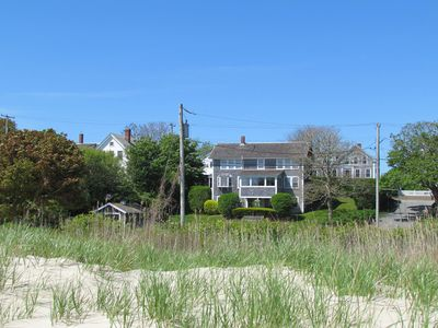 View of the house from 'our beach.'