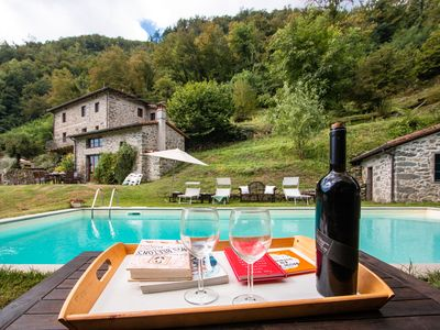 Photo for A recently converted antique water mill now serves as a fantastic family villa with pool....