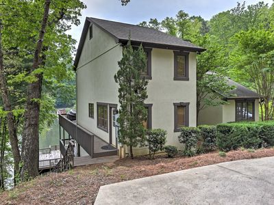 Photo for Lakefront 6BR Lake Lure Home w/Two-Level Deck