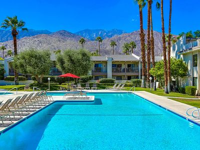 Photo for Palm Springs Modern *Double Master* Condo - Quiet Gated Community - 3 Pools