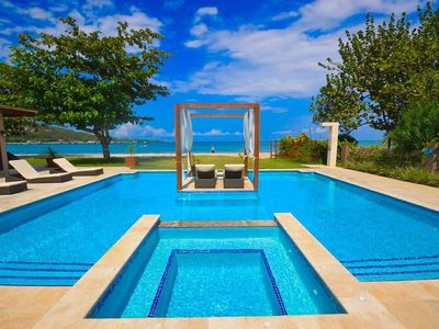 Photo for Bali Beach Villa -  Beachfront - Modern - Fully Staffed - Private Pool - Perfect!