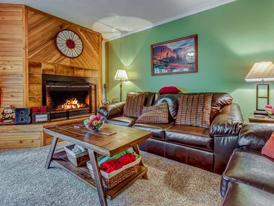 Photo for Cozy, dog-friendly condo steps from the slopes w/ a private deck!