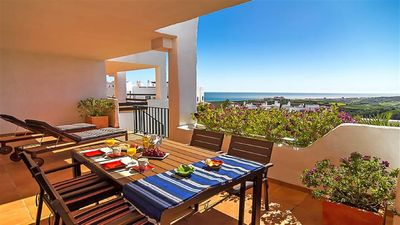 Photo for Fabulous picturesque apartment in Casares Costa: sunshine, sea and golf