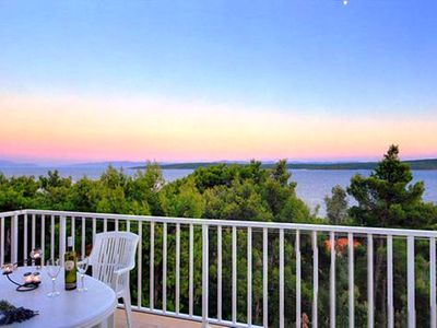 Photo for Island Hvar Zavala apartment5with panoramic views of the Peljesac