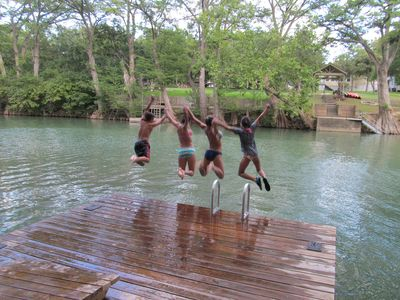 Private Guadalupe river access and family fun, right above the horseshoe