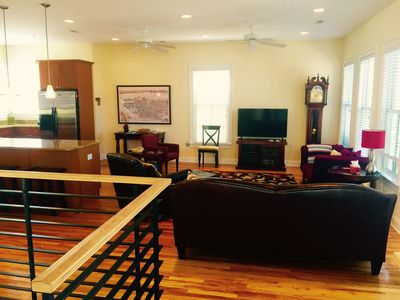 "Expansive great room with HD 50"" Cable TV-220+channels & HBO."