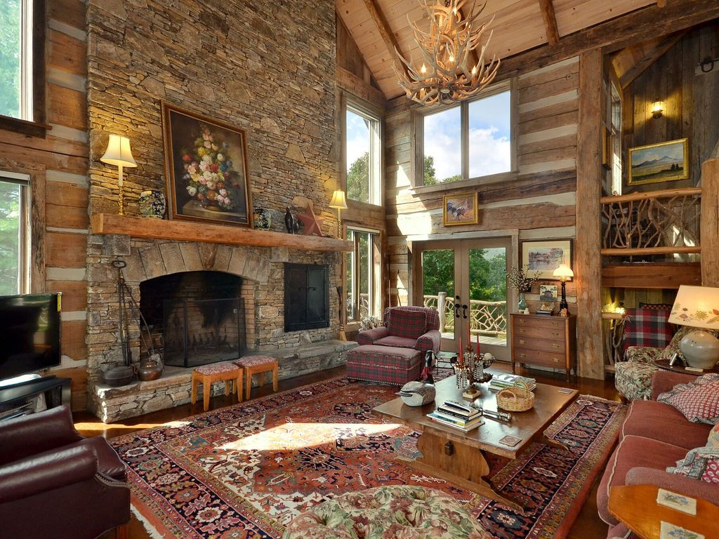 Mtn elegant log home near highlands cashiers lake for Elegant log homes