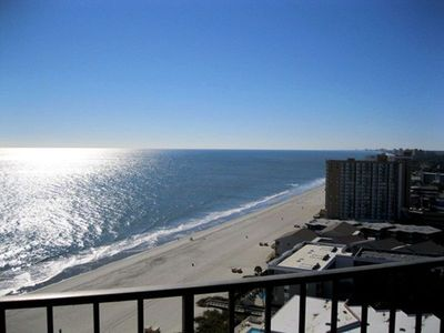 Photo for Luxury oceanfront building,pool,tennis,grill,library,game room,exercise room,secure building!