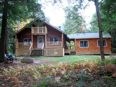 """Photo for Waterfront, """"Off the Grid"""" cabin within 30 mins of Freeport, Bath and Brunswick"""