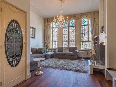 Photo for Elegant two bedroom apartment, for up to four guests, overlooking one of Amsterdam?s most beautiful
