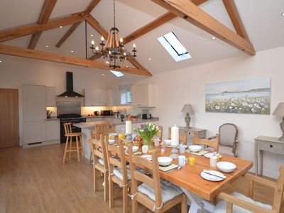 Stunning open-plan living with vaulted ceiling