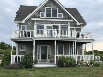 Photo for Beach is just steps away! Private path from upscale family home! Avail for 2019.