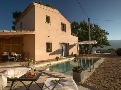 Photo for New holiday home, pool, peace and quiet, views of the Luberon massif, great comfort