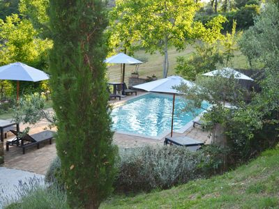 Photo for Beautiful farmhouse with lovely pool and stunning views over Le Marche