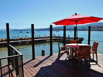 Photo for Lakefront condo right on the water, spectacular views!! Beautiful big deck.