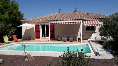 Photo for Beautiful house classified 4 *, 3 air-conditioned rooms, heated swimming pool, WIFI, calm