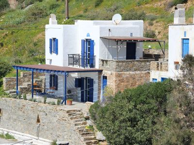 Photo for Cycladic house with fantastic sea views