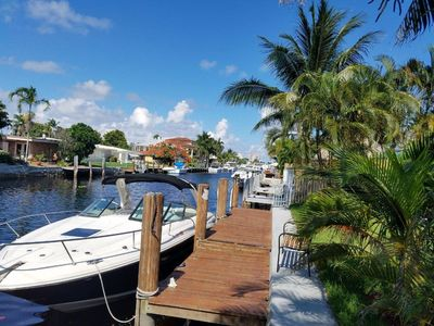 Photo for Beautiful Waterfront Home With A Pool, Dock, And Direct Ocean Access