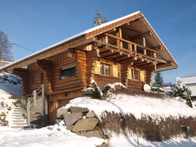Photo for Logs Chalet La Bresse panoramic quiet 10 minutes from the slopes 2-8 pers
