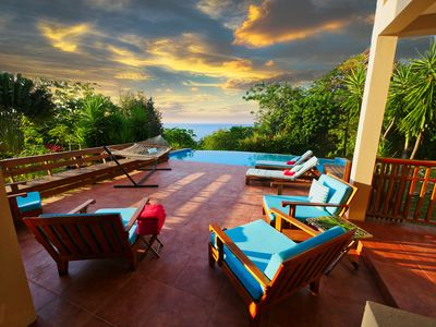 Photo for New Discounts! Tranquil Beachside Getaway with Private Pool, Beach & Dock