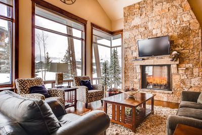 Living Room - This luxury mountain home is professionally managed by TurnKey Vacation Rentals.
