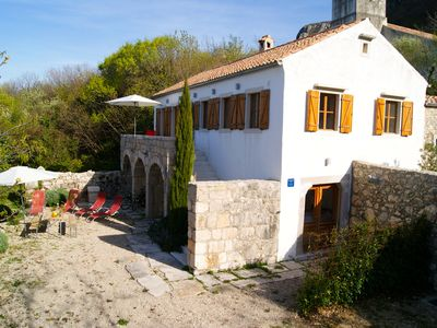 Photo for stylishly renovated stone house with comfort and sea view on the Adriatic Sea and the island of Krk