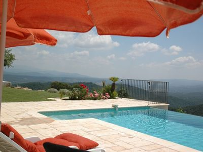 Photo for Luxury villa with heated pool and 180 ° views