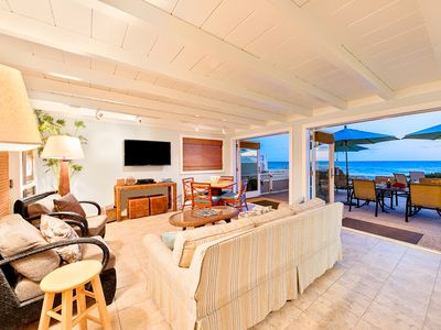 Photo for 10% OFF AUG - Beautiful Oceanfront Home on Private Road w/ Deck ON THE SAND