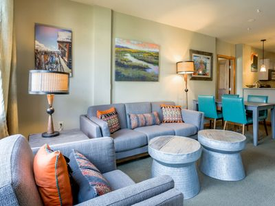 Photo for COLORFUL Condo at Base Area | Ski In\Ski Out | All New Decor | Hot Tubs