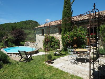 Photo for Character house in Provence with garden terrace and pool in Luberon Park