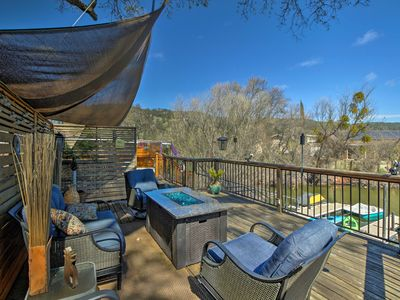 Photo for Cozy Clearlake Oaks Home w/Game Room, Dock & Deck!