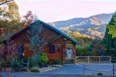 The most Serene Setting is here to greet you!  Mt. Leconte- front and center!