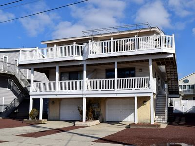 Photo for Only 1.5 blocks to shopping, promenade and the beach. Great southern exposure with 3 decks for sun bathing. This is a must see, must rent unit.