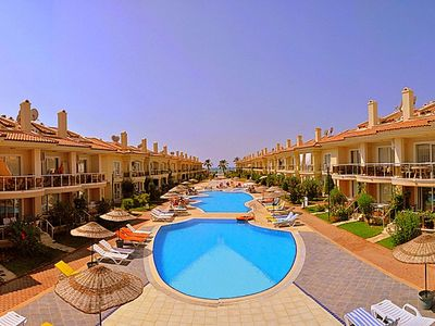 Photo for Rental 2+1 Aparts in Fethiye Calis in a Complex Shared Pool Aqua 32. Fully furnished, close to the center, up to 5 people 2+1-day rental apartments with a private beach.