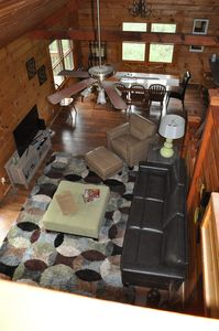 """Family Room & Dining Area featuring 48"""" Smart TV"""