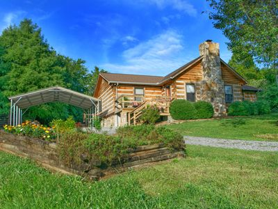 Photo for Log home is located on a 50 acre farm