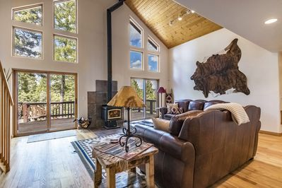 Relax and enjoy the views from the cozy living room