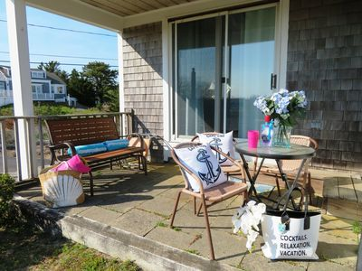 Photo for Steps to beach & walk to town-A/C unit-WiFi-Welcome to The Cozy Beach Cottage