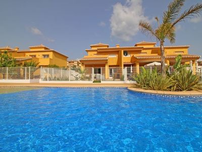 Photo for 3 bedroom Villa, sleeps 7 with Pool, Air Con, WiFi and Walk to Shops