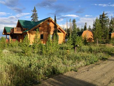 Photo for Custom Log Cabin on 40 Acres sleeps 9