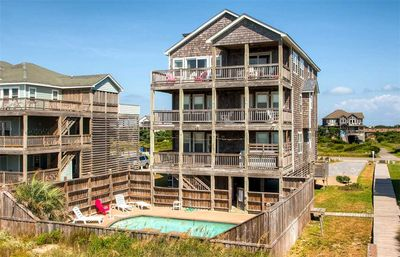 Photo for Dazzling Oceanfront View! Elevator, Pool, Hot Tub, Game Rm, Dog-Friendly, & More